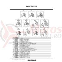 Piulita de strangere disc pentru Shimano SM-RT96