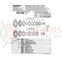 Piulita de strangere Shimano CS-7700 pentru 11T
