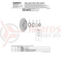 Piulita de strangere Shimano CS-HG70-9L cu garnitura