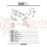 Piulita pentru montura schimbator Shimano RD-M600 & saiba