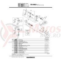 Piulita pentru montura schimbator Shimano RD-M800