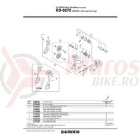 Placa ax ansamblu Shimano RD-6870-GS