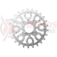 Placa BMX Eastern Bikes Medusa 25T alba