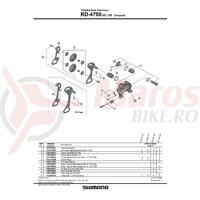 Placa exterioara Shimano RD-4700-SS & pin limitator