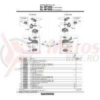Placa ghidaj de dreapta Shimano SL-M7000-11