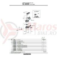 Placa ghidaj de dreapta Shimano SL-M8000