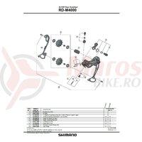 Placa interioara Shimano RD-M4000-SGS