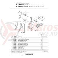 Placa interioara Shimano RD-M610-SGS