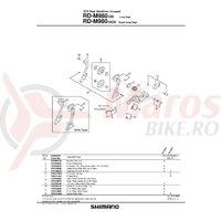 Placa interioara Shimano RD-M980-SGS