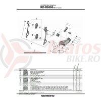 Placa interioara Shimano RD-R8000-SS