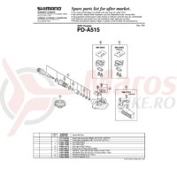 Placa placute pedale Shimano PD-A515 + Suruburi M5