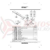 Placa placute pedale Shimano PD-M535 + Suruburi (M5)