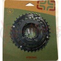 Placi pedalier E-Thirteen 24-34T, negru (CR2UNA-106)