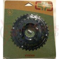 Placi pedalier E-Thirteen 24-34T, negru (CR2UNA-107)