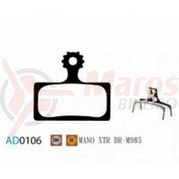 Placute frana Ashima AD0106, sintered, compatibile Shimano XTR BR-M9000/9020/M987/988/985, XT BR-M8000/M785, SLX BR-M7000/M666, OEM