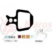 Placute frana Ashima AD0403 organice compatibile Formula Oro