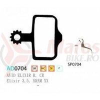 Placute frana Ashima AD0704, organice, compatibile Avid Elixir R
