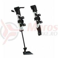 Pompa Beto CLD-022 mini alu cap dublu, maner ergo, 80psi, argintie