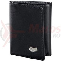 Portofel Fox Leather Trifold Wallet black