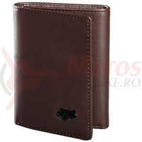 Portofel Fox Trifold Leather Wallet brown