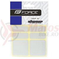 Protectie cadru Force autocolante set 6 bucati argintiu reflectorizant