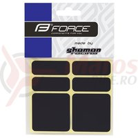 Protectie cadru Force autocolante set 6 bucati negru reflectorizant