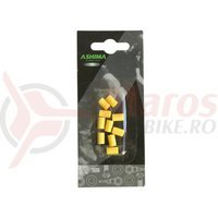 Protectie cadru silicon pentru cabluri Ashima galben 10 buc.