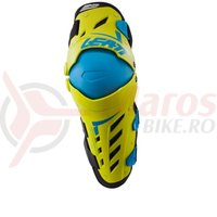 Protectie Leatt Knee & Shin Guard Dual Axis lime/blue