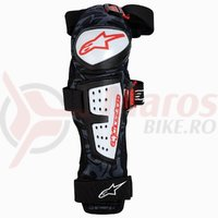 Protectii genunchi si tibie Alpinestars Moab Knee/Shin Guars black/white