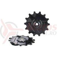 Pulley-set TOKEN MTB Skinny Fat black, f. Sram & Shimano 11s MTB RDs