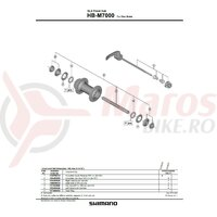 Quick release complet Shimano HB-M7000 133mm (5-1/4