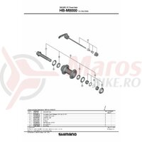 Quick release complet Shimano HB-M8000 133mm (5-1/4