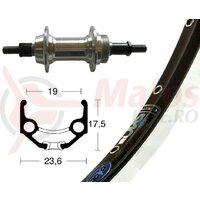 Roata spate 28x1.75 sc.gear ring 6/7f.silver, 36H, Rigida Zac 19