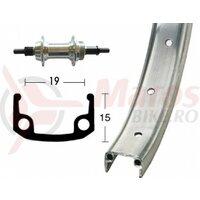 Roata spate 20x1.75  36L. aluminium/zinc, stiff, screwable sprocket