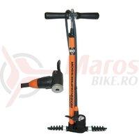 Pompa podea Racing SKS Metall orange cu E.V.A.-valve head