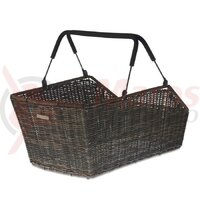 Cos bicicleta Basil Cento Rattan M-Syst. grey, close-meshed, removable