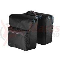 Geanta portbagaj spate, dubla Racktime System Ture neagra, incl. Snapit adapter