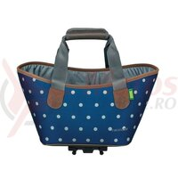 Geanta Racktime System shopper Agnetha polka dots, incl. Snapit adapter