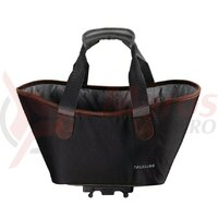 Geanta Racktime System shopping bag Agnetha black, incl. Snapit adapter