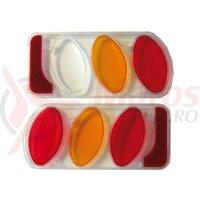 rear light glass (plastic)set left/right for coupling hub Peruzzo