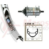Roata spate 24x1.75 Shim,3 gears, 36 holes Rigida X-Star 19