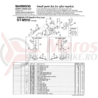 Reglaj cablu Shimano ST-M910/ST-M738