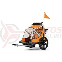 Remorca Bellelli B-Travel pentru transport copii pliabila portocaliu/gri