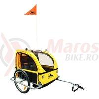 Remorca M-Wave pentru transport copii negru/galben