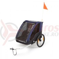 Remorca transport copii Polisport Trailer, albastra