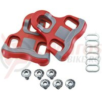 replac.cleats Xpedo Look Keo compatible 6° red