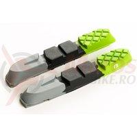 Rezerve saboti Bikefun MTB 72 mm cu filet cartridge, verde/negru/gri doar guma