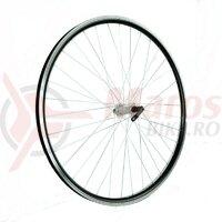 Roata fata 28x1.75 Fivestars V-brake, negru, butuc silver cu rulment si QR