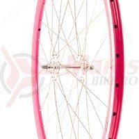 Roata fata single speed/fixie 700x32H-40 mm SXT roz
