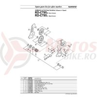 Role ghidare schimbator Shimano RD-CT95